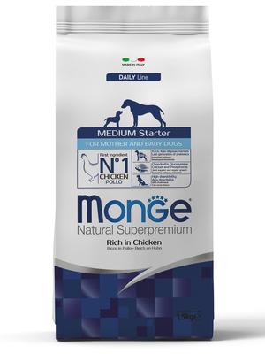 Monge Dog Medium Starter корм для щенков средних пород 1,5 кг (фото)