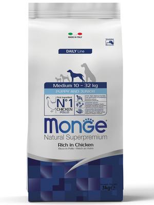 Monge Dog Medium корм для щенков средних пород (фото)