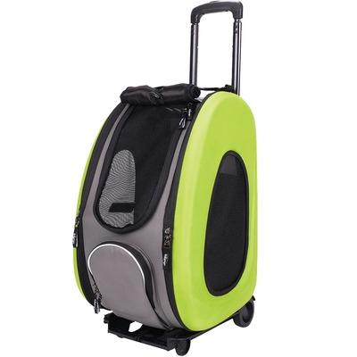 Ibiyaya многофункциональная сумка-тележка, лайм (Ибияйя) EVA Pet Carrier/ Pet Wheeled Carrier – Green (фото)