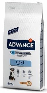 Advance Maxi Light сухой корм для взрослых собак крупных пород с курицей и рисом, контроль веса