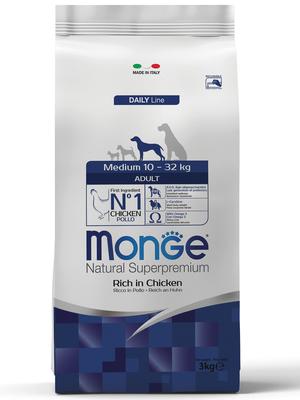 Monge Dog Medium корм для взрослых собак средних пород (фото)
