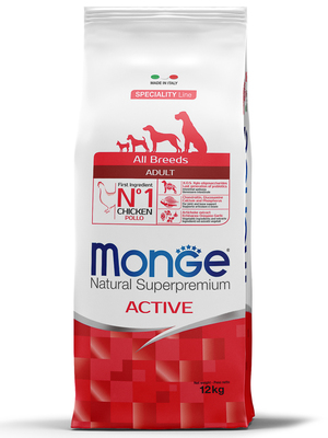 Monge Dog Speciality Active корм для активных собак с курицей и рисом, 12 кг