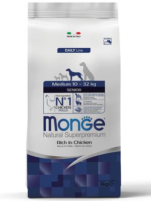 Monge Dog Medium корм для пожилых собак средних пород (фото)