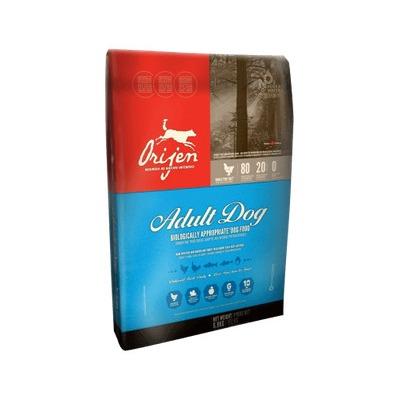 Orijen Adult беззерновой сухой корм для взрослых собак с цыпленком, индейкой, рыбой, фруктами и овощами (80/20)