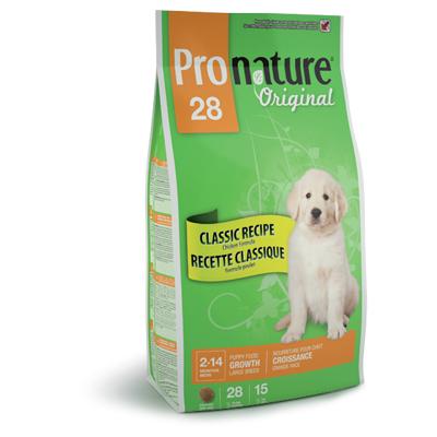 Pronature 28 для щенков крупных пород с цыпленком Original