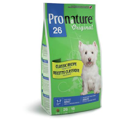 Pronature 26 для взрослых собак мелких и средних пород Original