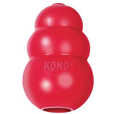 Kong Classic высокопрочная игрушка из литой резины для собак + жевалки Мнямс в подарок (фото)