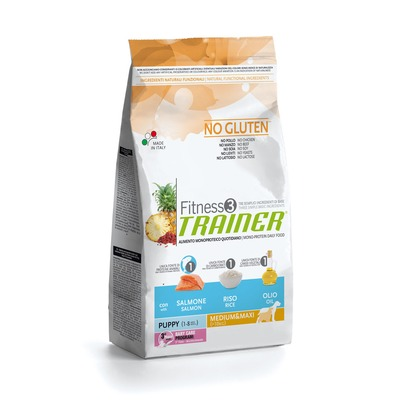 Trainer Fitness3 No Gluten Medium/Maxi Puppy Salmon and Rice
