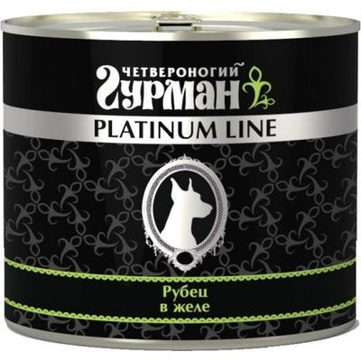 Четвероногий гурман консервы Platinum line Рубец говяжий в желе