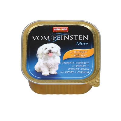 Animonda с домашней птицей и треской Vom Feinsten Mare консервы для собак, 150 гр. х 22 шт.