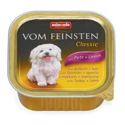 Animonda с индейкой и ягненком Vom Feinsten Classic консервы для собак, 150 гр. х 22 шт.