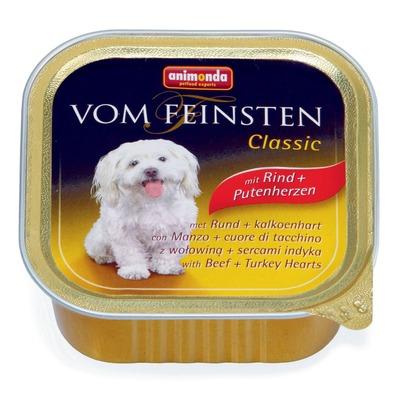 Animonda с говядиной и сердцем индейки Vom Feinsten Classic консервы для собак, 150 гр. х 22 шт.