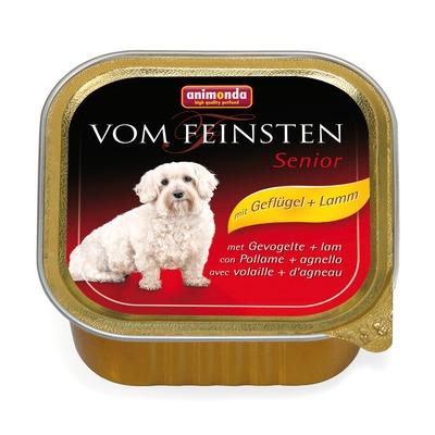Animonda с мясом домашней птицы и ягненком Vom Feinsten Senior консервы для собак старше 7 лет, 150 гр. х 22 шт.