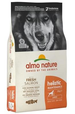 Almo Nature сухой корм для взрослых собак крупных пород с лососем, Large&Salmon