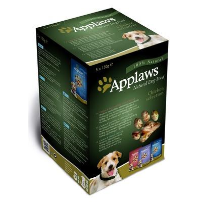 """Applaws набор паучи для собак """"Куриное ассорти"""": 5шт.x150г"""