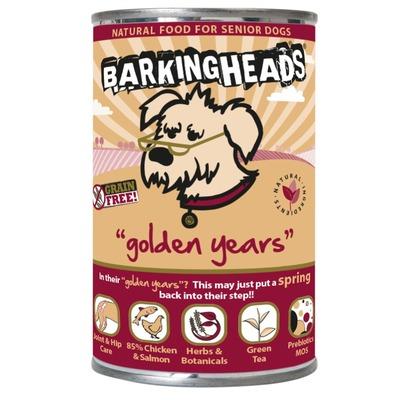 Barking Heads консервы для собак старше 7 лет с цыпленком и лососем Golden Years , 395 гр.