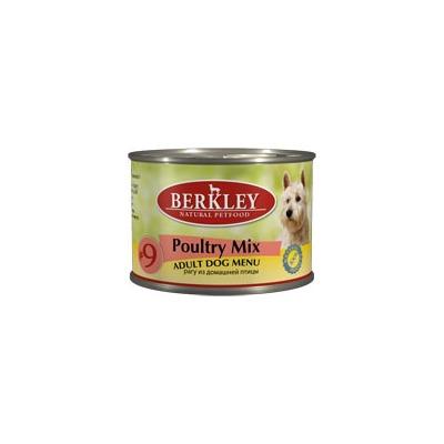 Berkley №9 рагу из домашней птицы, консервы для взрослых собак, 200 гр.