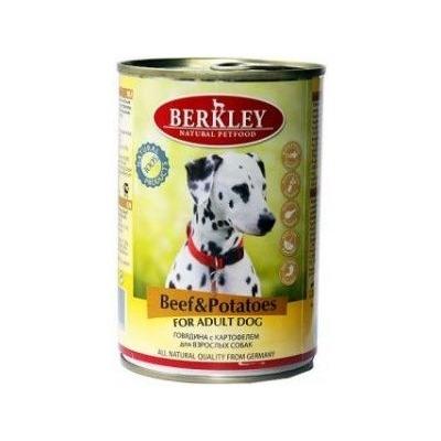 Berkley говядина с картофелем, консервы для взрослых собак, 400 гр.