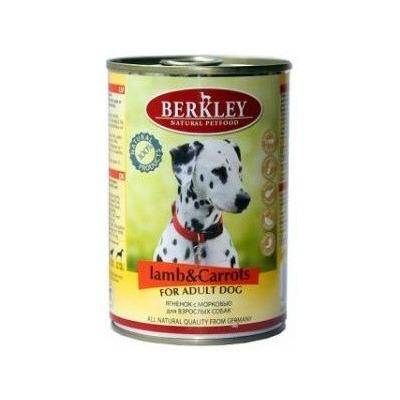 Berkley ягненок с морковью, консервы для взрослых собак, 400 гр.