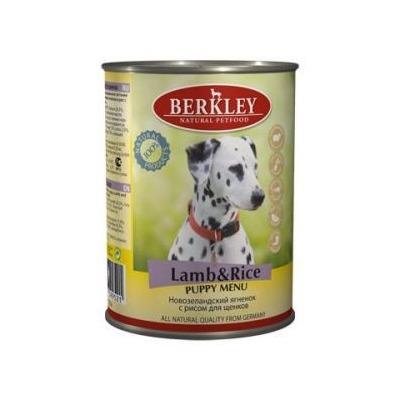 Berkley ягненок с рисом, консервы для щенков, 400 гр.