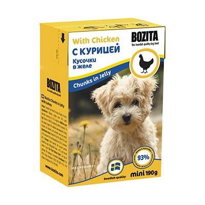 Bozita кусочки в желе с курицей, 190 гр.