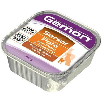 Gemon Dog консервы для пожилых собак паштет курица с индейкой 300 гр.
