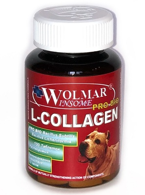 WOLMAR WINSOME® PRO BIO L-COLLAGEN Cинергический комплекс для восстановления и продуцирования сухожилий, связок, соединительных суставных тканей и их оболочек, у собак всех возрастов