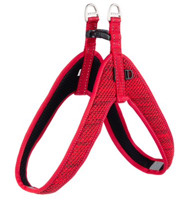 Rogz шлейка мягкая разъемная Utility, Fast-Fit Harness, цвет красный (фото)