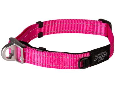 Rogz ошейник Utility с системой безопасности Quick Release Magnetic Collar, цвет розовый (фото)