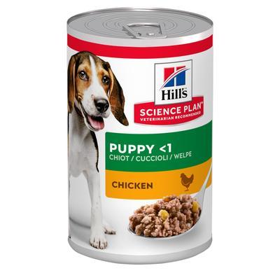 Hill`s консервы (паштет) для щенков с курицей, Science Plan Puppy Savoury Chicken, 370 гр.