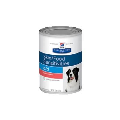 Hill`s D/D диетический консервированный корм для лечения пищевых аллергий, Prescription Diet™ d/d™ Canine Salmon, 370 гр.