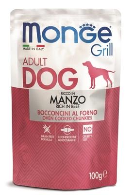 Monge Dog Grill Pouch для собак говядина 100 г (фото)
