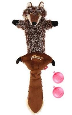 Gigwi Волк с пищалками СВЕРХПРОЧНАЯ игрушка, 37 см (фото)