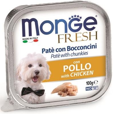 Monge Dog Fresh консервы для собак курица 100 г (фото)