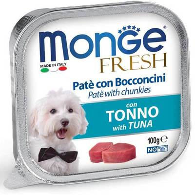 Monge Dog Fresh консервы для собак тунец 100 г (фото)