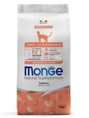 Monge Cat корм для взрослых кошек с лососем