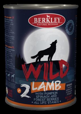 Berkley Wild Беркли Вайлд Ягненок с тыквой, шпинатом и лесными ягодами для собак всех возрастов №2, 400 гр.