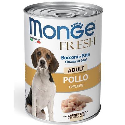 Monge Dog Fresh Chunks in Loaf консервы для собак мясной рулет курица 400г (фото)