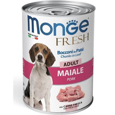 Monge Dog Fresh Chunks in Loaf консервы для собак мясной рулет свинина 400г (фото)