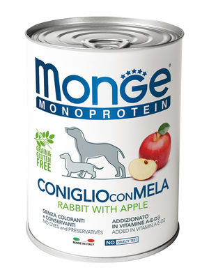 Monge Dog Monoproteino Fruits паштет из кролика с яблоками 400 г (фото)