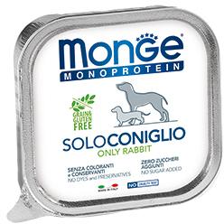 Monge Dog Monoproteino Solo паштет из кролика 150 г (фото)