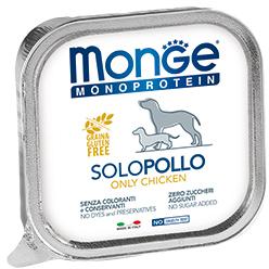 Monge Dog Monoproteino Solo паштет из курицы 150 г (фото)