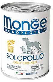 Monge Dog Monoproteino Solo паштет из курицы 400 г (фото)