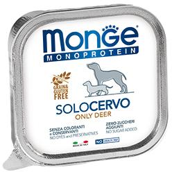Monge Dog Monoproteino Solo паштет из оленины 150 г (фото)