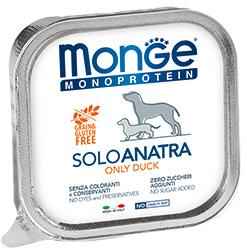 Monge Dog Monoproteino Solo паштет из утки 150 г (фото)