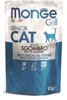 Monge Cat Grill Pouch паучи кусочки в желе с эквадорской макрелью для кошек старше 7 лет 85г