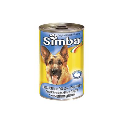 Simba Dog консервы для собак кусочки курицы с индейкой