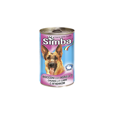 Simba Dog консервы для собак кусочки ягненка