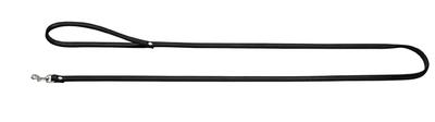 Hunter поводок для собак Nappa 0.8х140 см, натуральная кожа, цвет черный