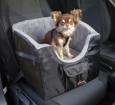 Trixie Автокресло для перевозки собак, 41*39*42 см, цвет серый с черным (фото)
